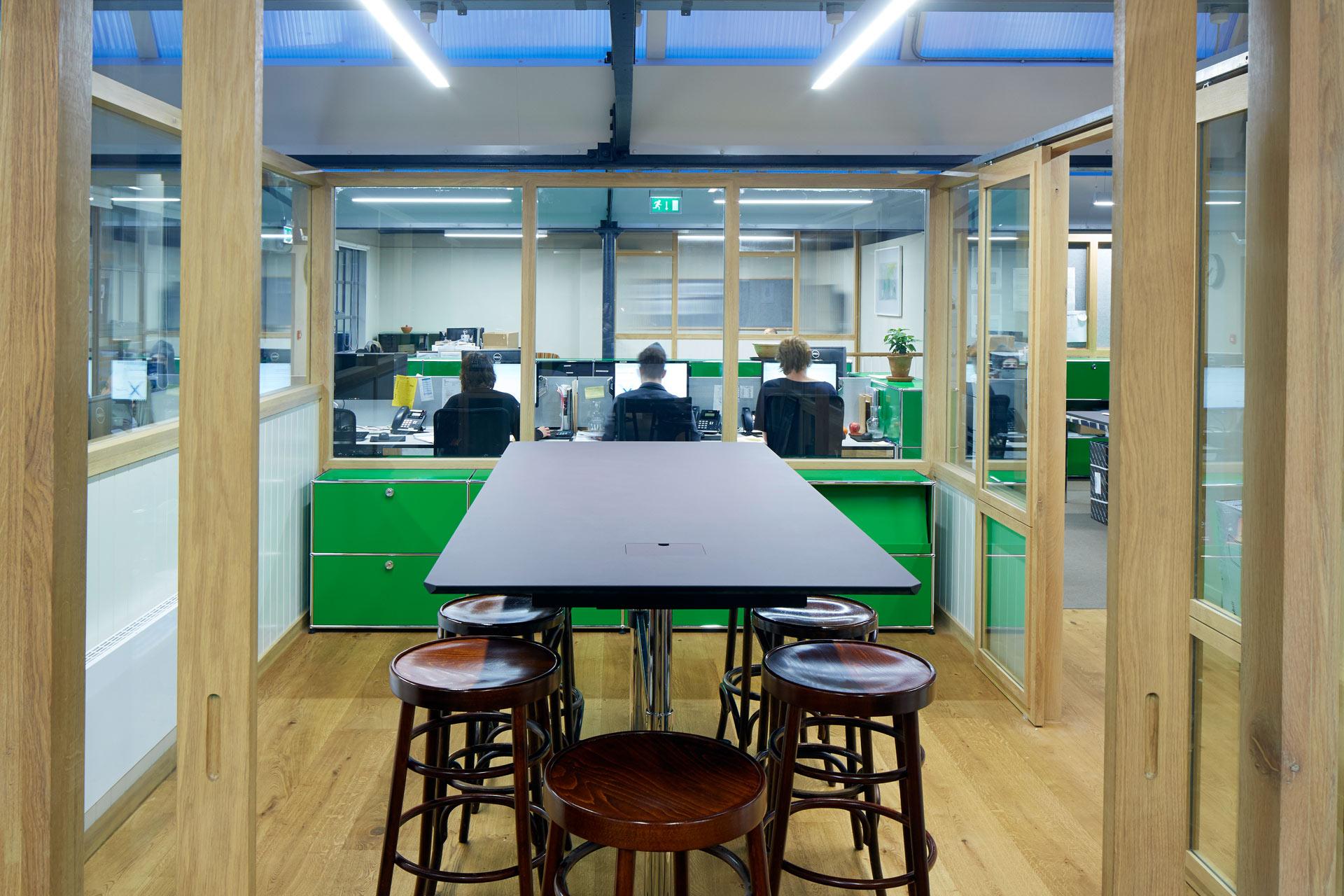 USM Modular Furnishing at Allpress Cafe office & training Center | London, UK