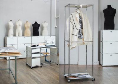 École Duperré, Paris. Furniture USM Haller Sewing Workshop
