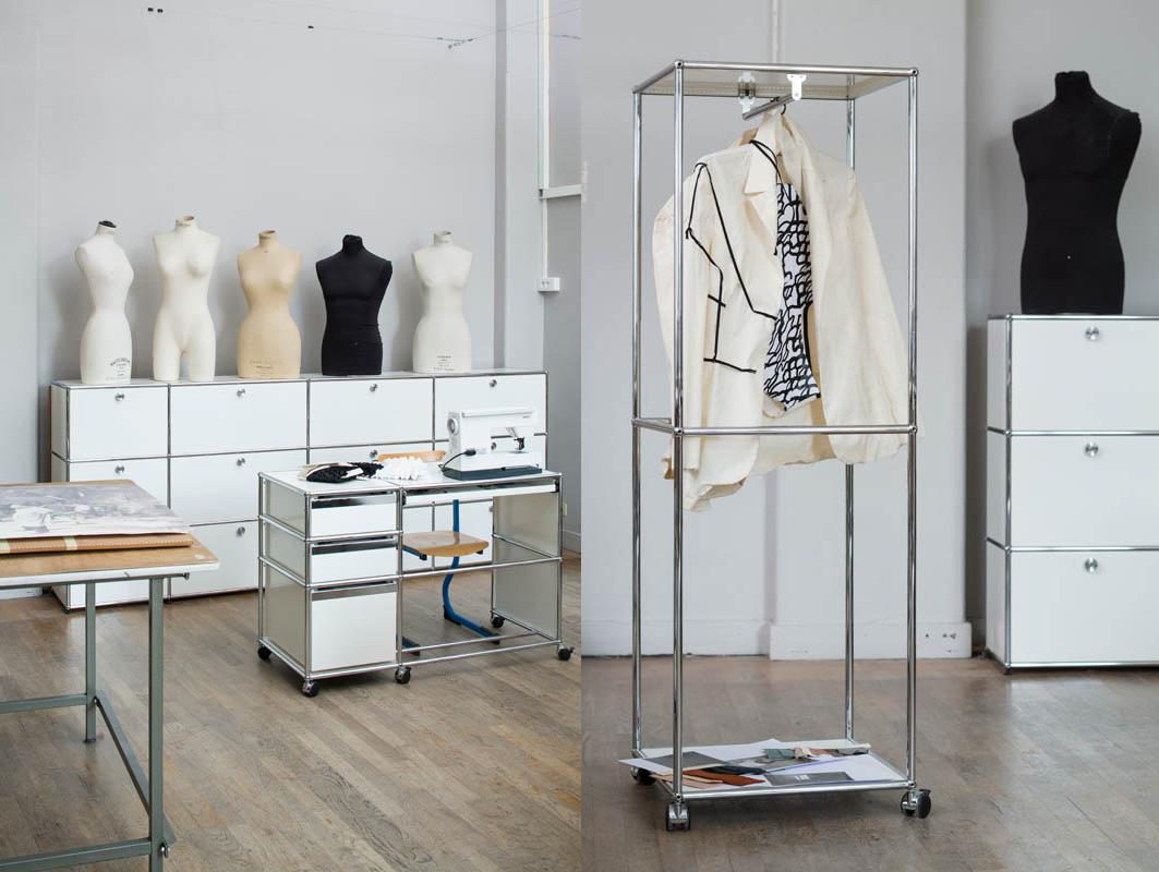 École Duperré, Paris. Mobilier USM Haller Atelier couture