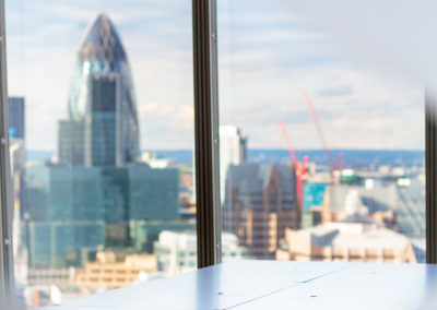 USM furniture @ The Office Group | Shard Building & view of The City | London