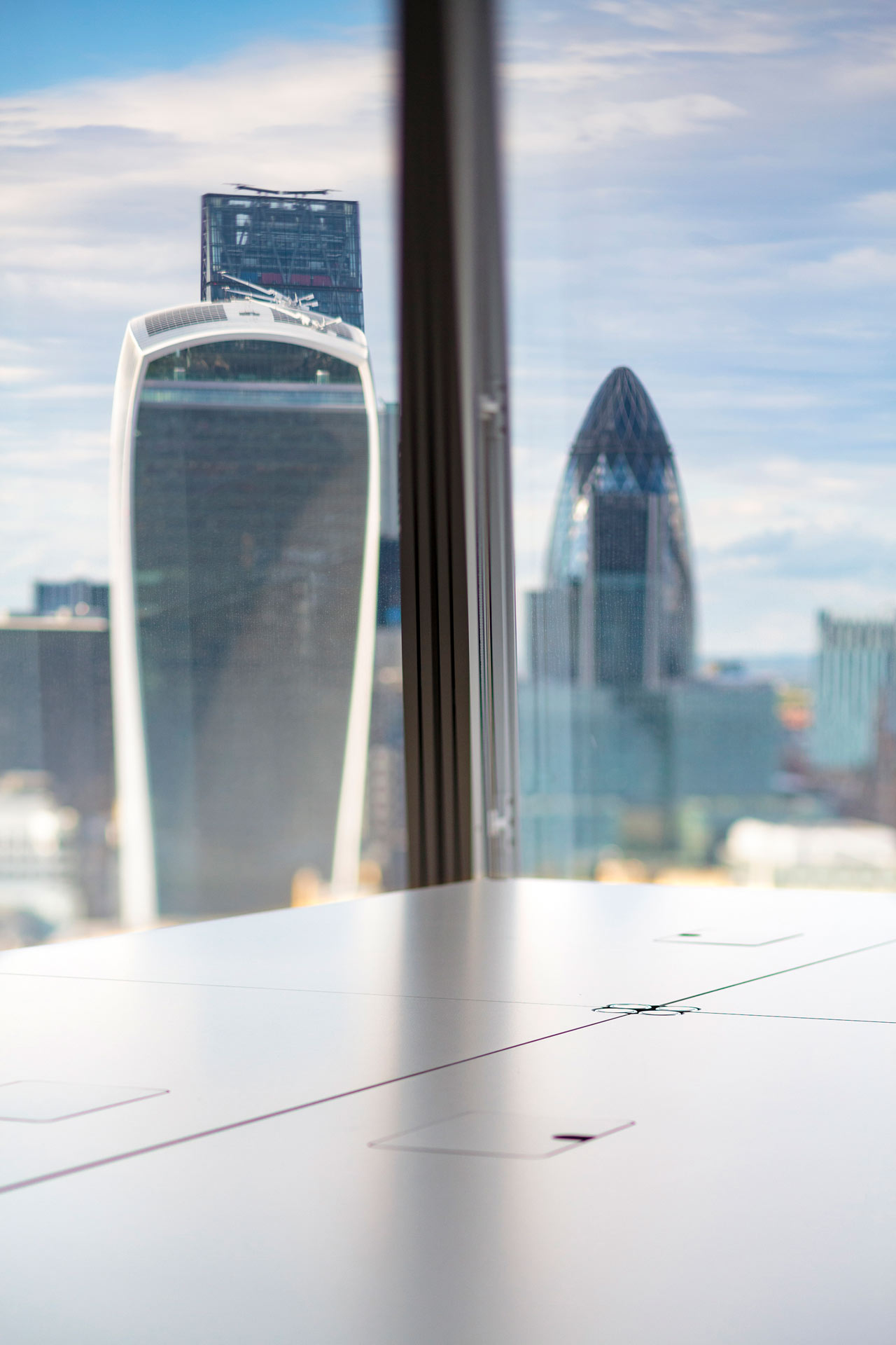 USM Table furniture @ The Office Group | Shard Building | London