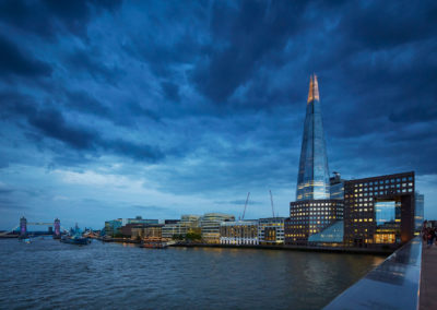 Thames view of Shard Building | London, UK