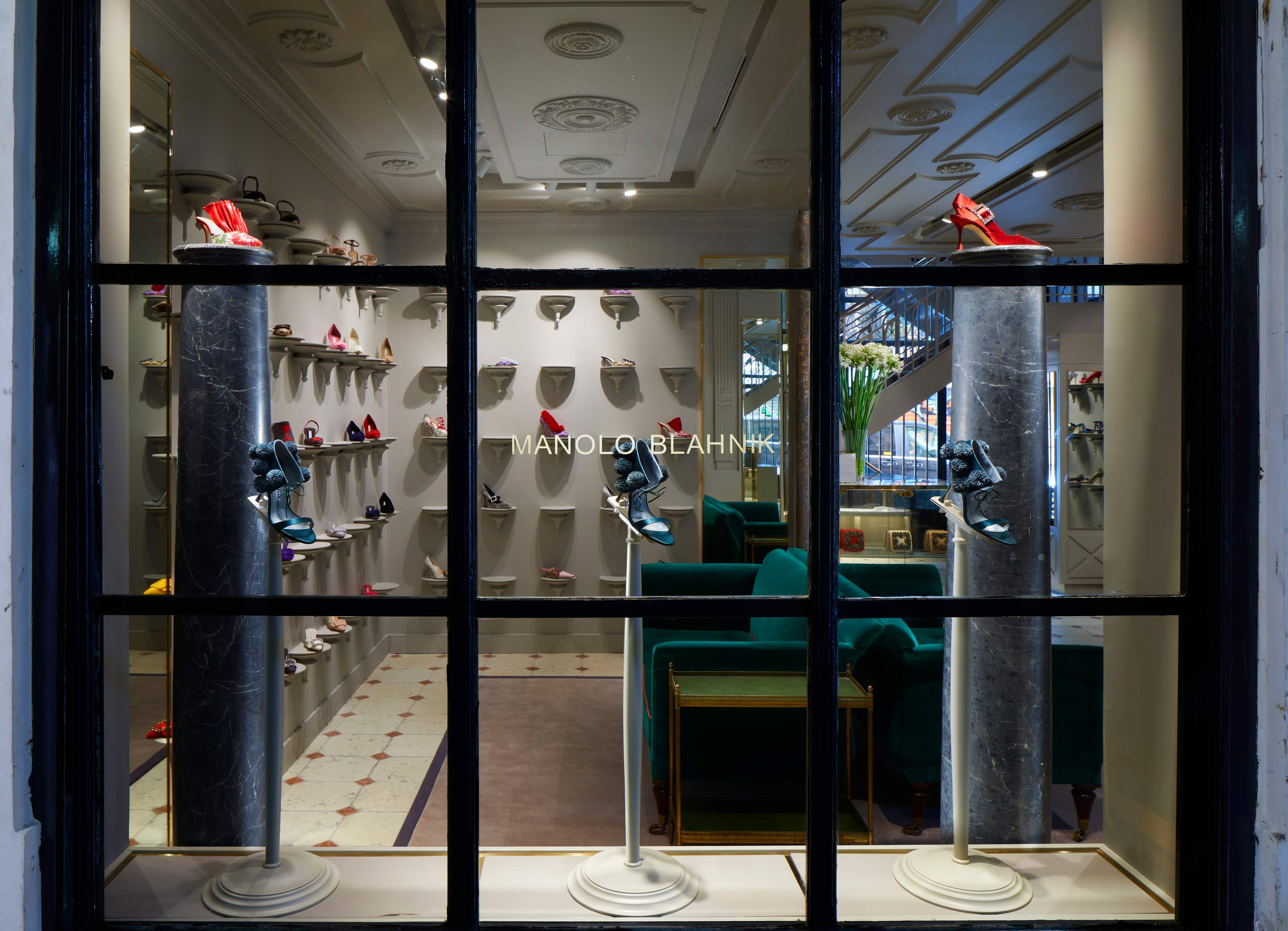 The Manolo Blahnik retail store @ Palais Royal, Paris